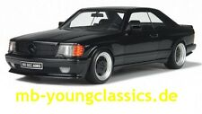 Mercedes-benz 560 sec AMG w126 Widebody Black 1:18 Otto Mobile