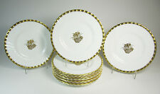 Set of 12 MINTON Gold Crocus Luncheon Salad Plates H4765 - 9""