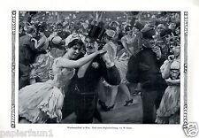 Wäschermädelball in Wien XL Kunstdruck von 1912 Gause Tanz Fasching Karneval +
