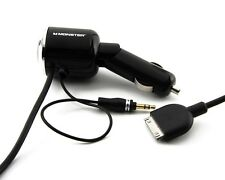Monster Cable iCarCharger 1000 V2 AUX for iPod iPhone Music Transmitter