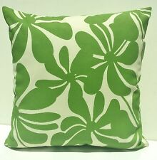 Tropical GreenTwirly Flower Palm Leaf Outdoor Cushion Cover Home Decor