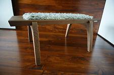 Minimaliste chêne bois indoor bench-rembourré gotland en peau de mouton tapis - 2