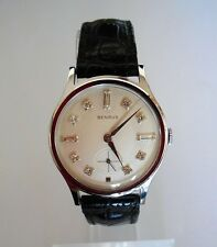 Vintage Benrus watch Diamond Dial Stainless Steel Wind-up