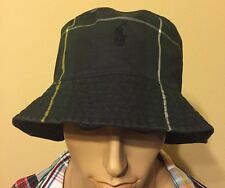 Polo Ralph Lauren Tartan Oil Cloth Black Watch Pony bucket hat  large / xlarge