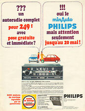 Publicité Advertising 1967  PHILIPS AUTORADIO MINAUTO