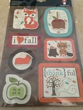 Imaginisce Pile on the Fun Stacker 3D Stickers Harvest Fall Autumn Fox Squirrel
