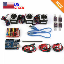 New CNC Kit w/ UNO + Shield+ Stepper motors DRV8825 Endstop A4988 GRBL USA