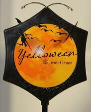 """NEW ~ RARE VEUVE CLICQUOT CHAMPAGNE YELLOWEEN HALLOWEEN 73"""" TALL POLE TOPPER"""