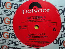 """Lloyd Cole & the Commotions """"Rattlesnakes"""" Great Oz 7"""""""