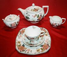 WEDGWOOD china EASTERN FLOWERS TKD426 pattern 37 Piece Collection Teapot, Plates