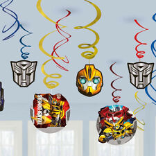 12 x TRANSFORMERS Party Hanging Swirls decorations Party Supplies