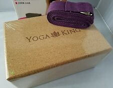 Yoga King Cork Yoga Block Bonus Strap Included Pilates Fitness Brick $49
