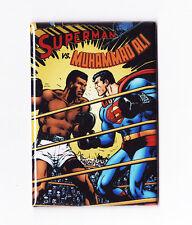 SUPERMAN VS MUHAMMAD ALI POSTER MAGNET (dc comics live logos statue 1978 print)