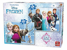 Childrens 2 IN 1 Disney Frozen Movie Anna Elsa Olaf Jigsaw Puzzle Toy 05413