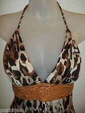 Sky Brand Clothing XS Top Leather Belt Leopard Print Club Fall Party Fall EUC