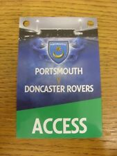 17/11/2012 Ticket: Portsmouth v Doncaster Rovers [Access All Areas Pass] (Noted