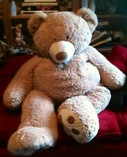 "Jumbo Giant HUGFUN 53"" Big Teddy Bear Plush Stuffed Animal Light Brown Tan"