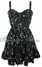 HELL BUNNY STAR DRESS WITH HEART BUTTONS NWT
