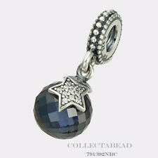 Authentic Pandora Silver Hanging Moon & Star Midnight Blue Bead 791392NBC