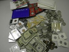 HUGE ESTATE LOT US COINS+SILVER+GOLD+GEM BU+PROOF+UPTO 125 Y.O.+PCGS+CURRENCY#30