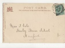 Miss F Cole Harley House School Hereford 1903 544a