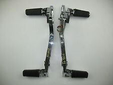 1986 KAWASAKI ZX10 NINJA 1000 DRIVERS + PASSENGER FOOTPEGS PEGS - CHROME
