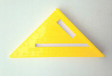 Plastic Triangle. Builders Right Angle Triangle. Degrees values, etc