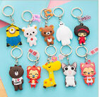 Free Shipping Fashion Double sided silicone keychain Rubber key chain gift
