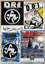 D.R.I. - 4 POSTER PACKAGE -  NEW - 1987 to 2002 - dirty rotten imbeciles *SCCRF