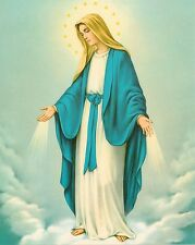 """Catholic Print Picture OUR LADY OF GRACE Blessed Virgin Mary 8x10"""" from Italy"""