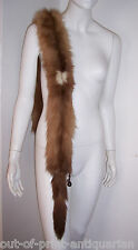 ~ Luxurious ART DECO Extra Long Soft Fluffy REAL FUR Scarf Wrap Stole ~