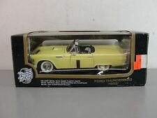 ROAD TOUGH 1955 FORD THUNDERBIRD 1:18 YELLOW DIECAST METAL CAR CONVERTIBLE NEW