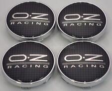 4x Black Carbon Fiber OZ Racing 55 mm Center Caps Cap 81310435