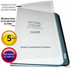 Clear Binding Report Covers 5 Mil 8.5 x 11 [100] unpunched Plastic Sheets