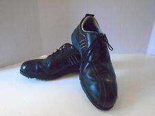 Adidas Golf Shoes 9 1/2 M Pre Owned Black z Traxion Soft Spikes
