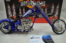 1:9 scale CUSTOM CHOPPER MOTORCYCLE Diecast model bike in Blue