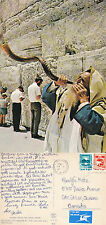 1980's BLOWING THE SHOFAR BY THE WAILING WALL JERUSALEM ISRAEL COLOUR POSTCARD