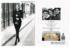Publicité Advertising 1988 (2 pages) Liqueur Anisette Marie Brizard