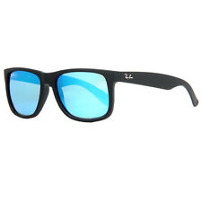 Ray Ban RB 4165 622/55 51mm Justin Matte Black Blue Mirrored Wayfarer Sunglasses
