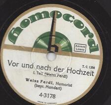 Weiß-Ferdl vom Platzl München 1932 : Vor und nach der Hochzeit