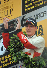 Alex Lynn SIGNED ,F3 Macau Victory Podium Portrait 2013 , GP3 Champion 2014