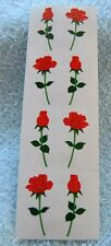 Mrs Grossman RED ROSES SMALL Stickers LONG STEM ROSES BUD AND OPEN ROSE
