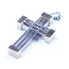 Silver Gold Stainless Steel The Cross Pendant With Necklace Sp93 USA Seller