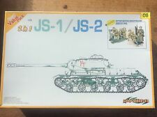 Model Kit 1:35 Dragon 9108 Tank 2 in 1 JS-1 / JS-2 Soviet Russian Military