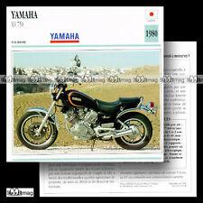 #038.18 YAMAHA XV 750 Special 1980's Custom Fiche Moto Motorcycle Card
