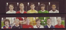 GREAT BRITAIN 2013 FOOTBALL SET OF 11 IN 2 STRIPS FINE USED.