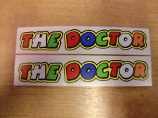 THE DOCTOR - 2x valentino rossi screen / helmet stickers / decals 130mm