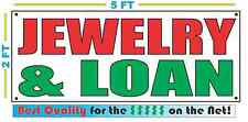 JEWELRY & LOAN Banner Sign NEW LARGER SIZE Best Quality for the $$$
