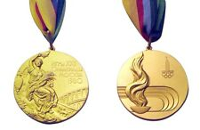 1980 Moscow Olympic 'Gold' Medal with Ribbons !!!