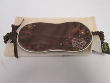 Luxury Brown Sequin Silk Style Christmas Stocking Gift Sleep Eye Mask #7F12